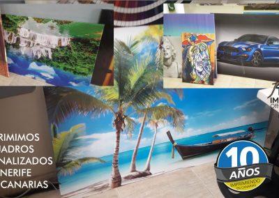 Impresion de cuadros personalizados tenerife sur islas canarias