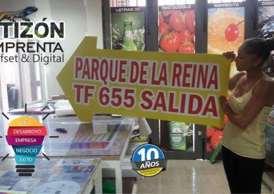 imprenta tizon carteles letreros tenerife sur