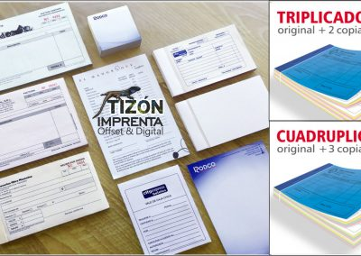 impresion talonarios recibos facturas offset tenerife sur imprenta tizon