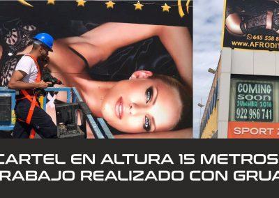 cartel con grua en tenerife sur colocacion empresas