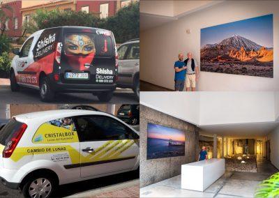 impresion de cuadros en vinilo fotograficos Tenerife sur