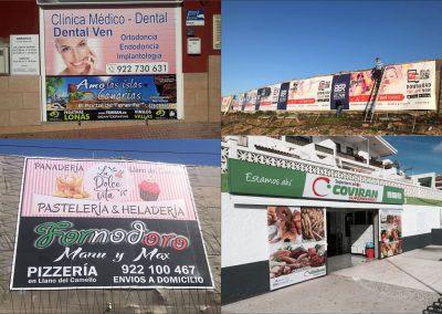 rotulacion de carteles vallas en Tenerife sur