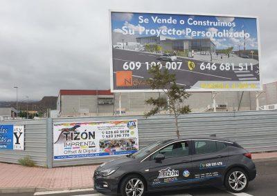 anuncios publicitarios en autopista o carretera en adeje