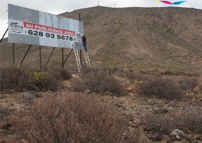 publicidad exterior vallas de carretera en tenerife