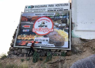colocacion de lonas grandes gigantografias Tenerife