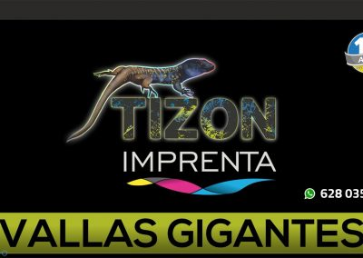 impresion de vinilos gigantes enTenerife sur imprenta Tizon