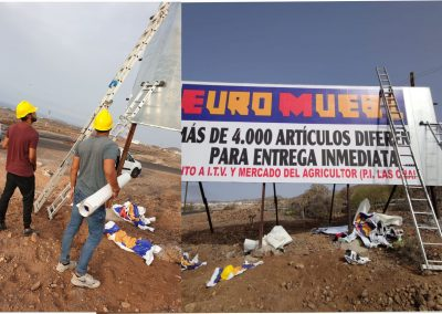 impresion y colocacion de vinilo rotulaciones vallas Tenerife